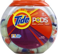 Tide PODS Detergent... I use a fraction of the laudry detergent I use to.. just by using these. #f