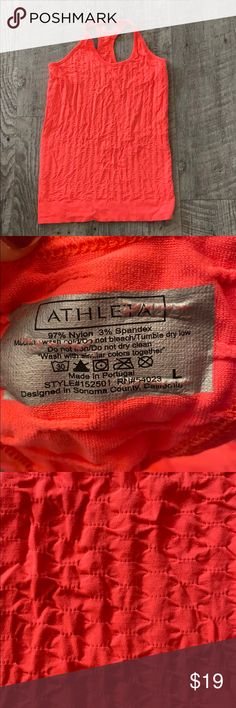ATHLETA Epitomize Tank in Ember Orange Worn only a few times.  Super stretchy Athleta Tops Tank Tops