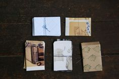 Small packages / envelopes from old sketchbooks - diy