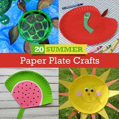 20 Summer Crafts to make with Paper Plates.