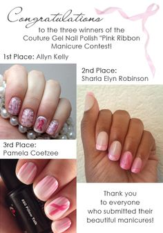 Congratulations to the winners of this contest!  1st Place Winner: Allyn Kelly 2nd Place Winner: Sharla Elyn Robinson 3rd Place Winner:  Pamela Coetzee  Thank you to everyone who submitted their beautiful manicures!  xxoo