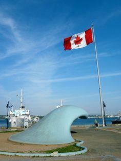 Halifax, Nova Scotia.  'the wave'