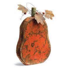 Artisan Wood Pumpkins - Grandin Road