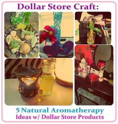 Dollar Store Craft: Homemade Natural Aromatherapy Ideas with Products from Dollar Tree: DIY Car Air Freshener, Oil Warmer, Reed Diffuser, Potpourri and Rose Aroma Petals