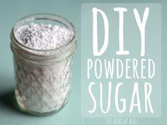 DIY powdered sugar - SO STINKIN EASY! - The Burlap Bag