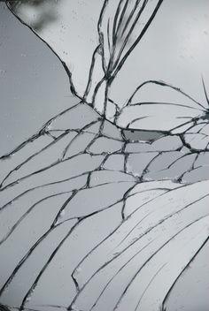 cracked mirror.