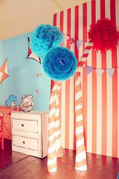 Cat in the Hat Party with LOTS of CUTE Ideas via Kara's Party Ideas | KarasPartyIdeas.com #CatInTheHat #Birthday #Party #Idea #Supplies #DrSeuss
