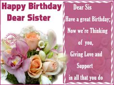 Birthday Messages For A Sister | Happy Birthday Sister - WishBirthday.com birthday sister, greet card, happy birthdays, download free, greeting cards, mascarilla facial, birthday messag, wallpap free, happi birthday