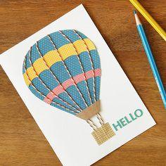 Up, Up, and Away - Hot Air Balloon Card