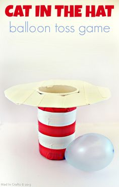 hats, party games, dr. seuss games, parties, toss game