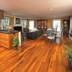 Tiger wood Flooring - Have it all through the house!