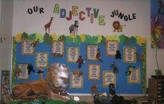 Adjectives Bulletin Board: Describing stuffed animals