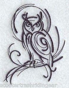 Tribal Owl Tattoos | Tribal Tattoo Asian Owl Bird Blue Backpack School Tote Book Bag ...