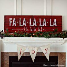 Fa La La La La Christmas Sign | The Wood Connection Blog