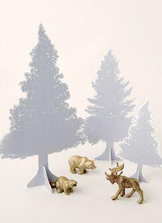 Make Easy DIY Tabletop Christmas Trees