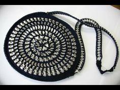Como hacer una bolsa con anillas de lata: Bolsa Redonda Parte 1