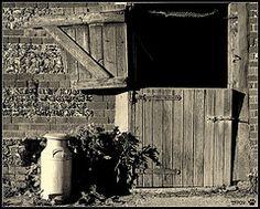 an old barn door