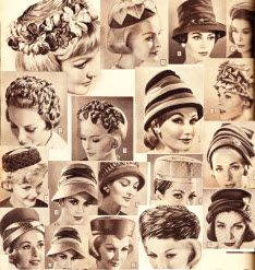 I forgot women wore hats back then.