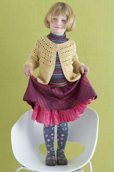 Free Knitting Pattern: Eloise Eyelet Cardi