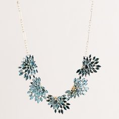 Feathered crystal necklace
