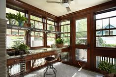 Morningside bungalow potting/sunroom, Minneapolis. Meriwether Inc.