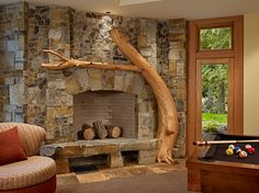 Fireplace- if I had a cabin  :)