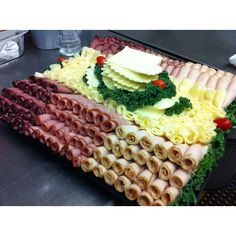 Meat and cheese platter design