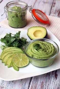 Cilantro Infused Avocado Lime Sorbet  #food #avocado