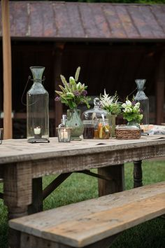 rustic centerpiecesz Engage!13: Barn Party