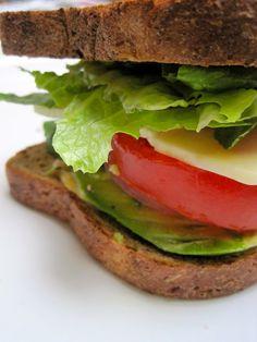 Full Belly Sisters: Avocado Cheddar Sandwich