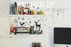 annabell craft, crafti, kinsey, wall decals, diy wall, decal diy, wall diy, diy decal, sincer