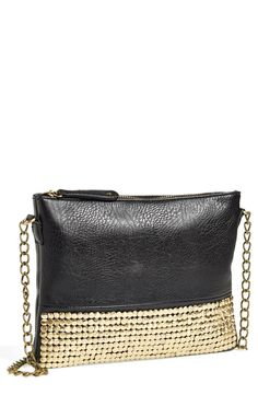 Party bag! This gold studded crossbody is perfect for a night out.