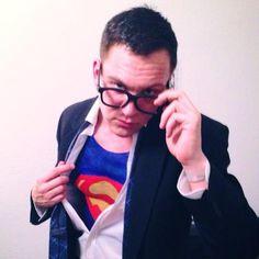 Superman body painte