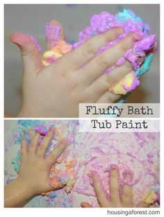 Fluffy Bath Tub Paint - but you would have to have a microwave