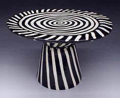 ceramic pottery, ceram cake, cake platter, cake stands, ceramics, spiral cake, halloween cakes, black, cake plates