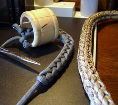 samples of knitting spools, which are great for making lanyards long and easy