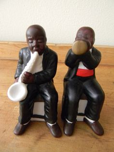 African BLACK AMERICANA Salt and Pepper Shakers by RareEclectics, $15.00