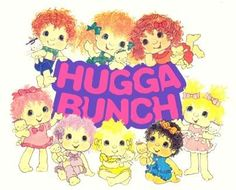 Come meet the Hugga Bunch! They live in a magical land. With pillows for miles. Big hugs and big smiles. Put your arms around someone. Hurray for hugs! Hurray!...I remember them now!