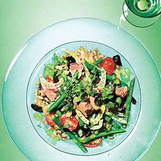 Farro, Green Bean, and Fennel Salad with Tuna   MyRecipes.com chopped salads, olive oils, new recipes, food, fennel salad, green beans, tuna recipes, summer salads, cooking light