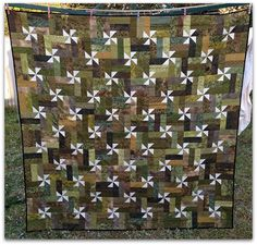 Field Greens Quilt Finished ~ The Needles Excellency