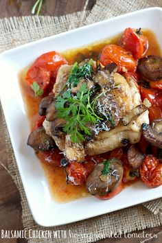 Balsamic Chicken with Honey Roasted Tomatoes
