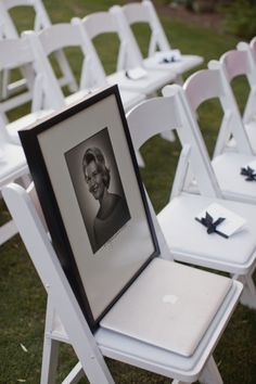 Remembering those who can't be there- Love this idea!!