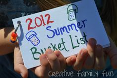 Summer Bucket List: Our 2012 List ~ Creative Family Fun