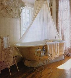 okay this isn't exactly bedroom but it can be a tub in the corner of my room ... always wanted a clawfoot tub or something similar