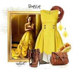 """""""Belle Inspired Outfit"""" by rubytyra on Polyvore"""