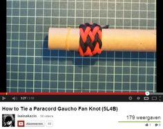 Gaucho Fan Knot --- How to Tie a Paracord Gaucho Fan Knot (5L4B) --by-- isainakazin ---on http://www.youtube.com/watch?v=7FzRihnkRJ8=youtu.be