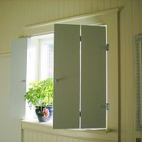 Interior Window Shutters With Fabric Inserts : Interior Window Shutters on Pinterest  Indoor Window Shutters, Inter ...