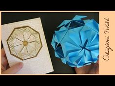 Kusudama and Medallion for a Card