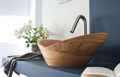 Franco Cecotti wood basin