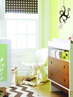 Eames rocker. Mid century modern gender neutral nursery